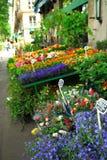 στάση του Παρισιού λουλουδιών Στοκ Φωτογραφία