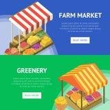 Στάση τροφίμων αγροτικής αγοράς οδών με το θόλο στοκ φωτογραφία με δικαίωμα ελεύθερης χρήσης