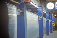 Στάση υπογείων πόλη για Γουώλ Στρητ, Νέα Υόρκη, Νέα Υόρκη Στοκ εικόνα με δικαίωμα ελεύθερης χρήσης