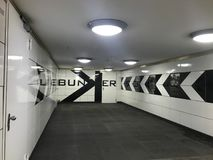 Στάση υπογείων στο Βερολίνο Στοκ φωτογραφία με δικαίωμα ελεύθερης χρήσης