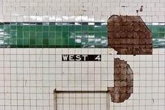 Στάση υπογείων δυτικών τέταρτη οδών - NYC Στοκ Φωτογραφίες