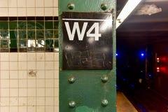 Στάση υπογείων δυτικών τέταρτη οδών - NYC Στοκ εικόνες με δικαίωμα ελεύθερης χρήσης