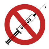 στάση φαρμάκων Στοκ Εικόνες