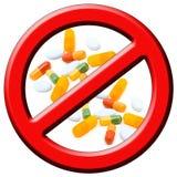 στάση φαρμάκων Στοκ εικόνα με δικαίωμα ελεύθερης χρήσης