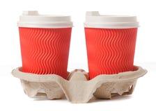 Στάση χαρτονιού για τον καφέ Στοκ φωτογραφία με δικαίωμα ελεύθερης χρήσης