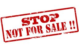 Στάση όχι για την πώληση διανυσματική απεικόνιση