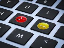 Στάση cyber που φοβερίζει Στοκ εικόνα με δικαίωμα ελεύθερης χρήσης