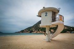 Στάση Lifeguard στην παραλία Shek Ο, στο νησί Χονγκ Κονγκ, Χονγκ Κονγκ Στοκ εικόνες με δικαίωμα ελεύθερης χρήσης