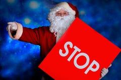 στάση santa Στοκ εικόνα με δικαίωμα ελεύθερης χρήσης