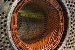 Στάτης ενός μεγάλου ηλεκτρικού κινητήρα στοκ εικόνα με δικαίωμα ελεύθερης χρήσης