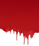 Στάλαγμα σκούρο κόκκινο στο λευκό στοκ εικόνα