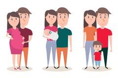 Στάδια ανάπτυξης της οικογένειας Στοκ Εικόνες