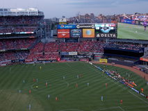 Στάδιο Αμερικανού που φιλοξενεί το αγγλικό ποδόσφαιρο φιλικό στοκ φωτογραφίες