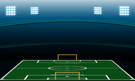 Στάδιο ποδοσφαίρου νύχτας ελεύθερη απεικόνιση δικαιώματος