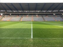 Στάδιο ποδοσφαίρου ποδοσφαίρου Στοκ φωτογραφία με δικαίωμα ελεύθερης χρήσης