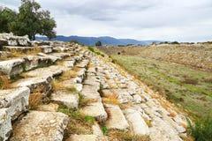 Στάδιο στην παλαιά ελληνική πόλη Aphrodisias, Τουρκία Στοκ φωτογραφία με δικαίωμα ελεύθερης χρήσης