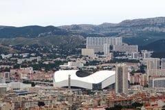 Στάδιο Vélodrome στην πόλη της Μασσαλίας, Γαλλία Στοκ Φωτογραφίες