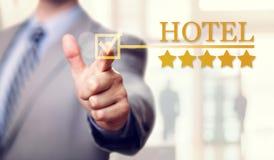 Στέγαση και υπηρεσία ξενοδοχείων πολυτελείας πέντε αστεριών Στοκ Φωτογραφία