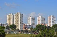 Στέγαση κοινής ωφελείας της Σιγκαπούρης (επίπεδα HDB) στην ανατολή Jurong Στοκ Εικόνες