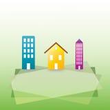 στέγαση κτηρίων ανασκόπηση& Στοκ φωτογραφία με δικαίωμα ελεύθερης χρήσης