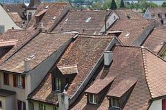 στέγες Ελβετός Στοκ εικόνα με δικαίωμα ελεύθερης χρήσης