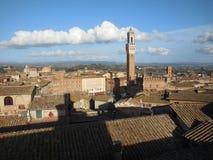 Στέγες και πύργος, Σιένα, Ιταλία Στοκ φωτογραφία με δικαίωμα ελεύθερης χρήσης