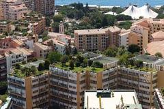 Στέγες οικοδόμησης του Μονακό στοκ φωτογραφία