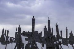 Στέγες παλαιών Βρετανών - κτήρια ύφους Στοκ εικόνα με δικαίωμα ελεύθερης χρήσης