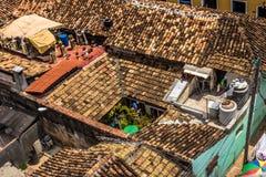 Στέγες στην παλαιά πόλη Τρινιδάδ, Κούβα Στοκ Φωτογραφία