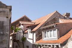 Στέγες στην περιτοιχισμένη πόλη Dubrovnic στην Κροατία Ευρώπη Το Dubrovnik παρονομάζεται το μαργαριτάρι ` της Αδριατικής Στοκ Εικόνες