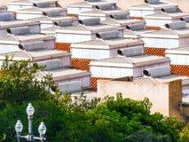 Στέγες στη Βαρκελώνη - την Ισπανία Στοκ φωτογραφίες με δικαίωμα ελεύθερης χρήσης