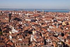 Στέγες στη Βενετία, Ιταλία Στοκ Εικόνες
