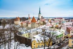 Στέγες στο Ταλίν Στοκ φωτογραφίες με δικαίωμα ελεύθερης χρήσης