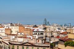 στέγες της Βαρκελώνης στοκ φωτογραφία με δικαίωμα ελεύθερης χρήσης