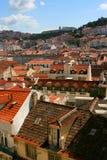 στέγες της Λισσαβώνας Στοκ Φωτογραφία