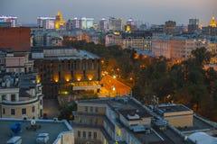 Στέγες της Μόσχας που εξισώνουν την άποψη Στοκ φωτογραφίες με δικαίωμα ελεύθερης χρήσης