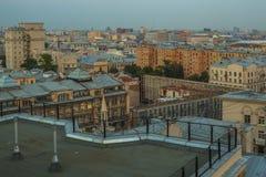 Στέγες της Μόσχας που εξισώνουν την άποψη Στοκ Εικόνα