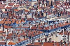 Στέγες της παλαιάς πόλης στη Λυών Στοκ εικόνες με δικαίωμα ελεύθερης χρήσης