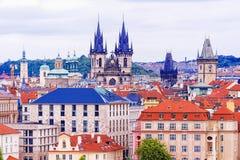 Στέγες της Πράγας, Δημοκρατία της Τσεχίας Στοκ Εικόνα