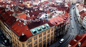 στέγες της Πράγας Στοκ εικόνα με δικαίωμα ελεύθερης χρήσης