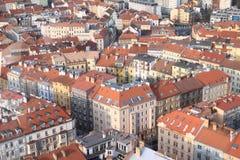 στέγες της Πράγας στοκ φωτογραφίες με δικαίωμα ελεύθερης χρήσης