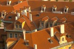 στέγες της Πράγας στοκ φωτογραφίες