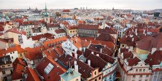 Στέγες της Πράγας Στοκ Εικόνα