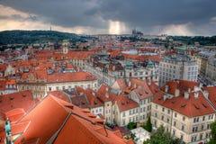 στέγες της Πράγας Στοκ φωτογραφία με δικαίωμα ελεύθερης χρήσης