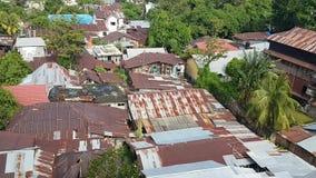 Στέγες της πόλης Manado απόθεμα βίντεο