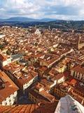 Στέγες της Φλωρεντίας, Ιταλία Στοκ φωτογραφίες με δικαίωμα ελεύθερης χρήσης