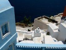 Στέγες του νησιού Santorini Στοκ φωτογραφία με δικαίωμα ελεύθερης χρήσης
