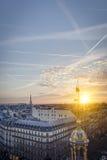 στέγες του Παρισιού Στοκ εικόνα με δικαίωμα ελεύθερης χρήσης