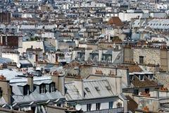 στέγες του Παρισιού Στοκ φωτογραφία με δικαίωμα ελεύθερης χρήσης
