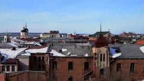 Στέγες του Τομσκ Στοκ φωτογραφία με δικαίωμα ελεύθερης χρήσης